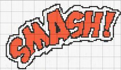 SMASH comic sound effect pattern by RawrrThePeowPeow on DeviantArt