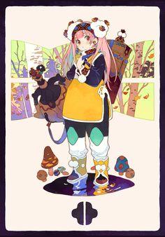 POO(ぷー)の絵(@_poo_illust)さん | Twitter Female Character Design, Character Design Inspiration, Character Concept, Character Art, Concept Art, Art And Illustration, Character Illustration, Kawaii Art, Kawaii Anime