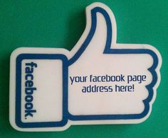 Facebook Business Page Foam Signage
