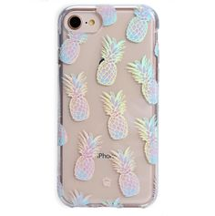 Pineapple Holo iPhone Case - About the DesignTaste the summer with our Pineapple Holo! This protective clear case has cute han - Cute Iphone 7 Cases, Pink Phone Cases, Phone Cases Samsung Galaxy, Cute Cases, Diy Phone Case, Iphone Phone Cases, Iphone 5s, Iphone 8 Plus, Ipod Touch Cases