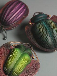 Coleoptera Pendant. £225.00, Louise Hibbert .