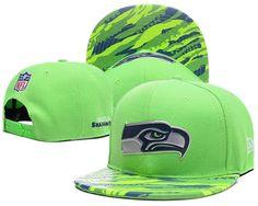 Men s Seattle Seahawks New Era Green Color Liquid Chrome Logo Rush On-Field  Original Fit Snapback Hat 66fc95595