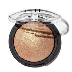 This highlighter creates a radiant glow with a sheer wash of shimmering color. Infused with Vitamin E and hydrating jojoba, rose hip, sunflower, apricot, and Highlighters For Pale Skin, Drugstore Highlighter, Baked Highlighter, Drugstore Makeup, Makeup Cosmetics, Bronzer, Contouring Makeup, Drugstore Foundation, Makeup Brushes