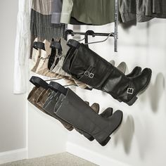 We've had our first snow of the year, and it's officially boot season!  Love this innovative boot storage solution--a new feature we're adding into our closet designs. #customclosetslongisland