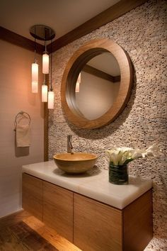 Contemporary Powder Room With Calacatta Gold Marble Countertop, Pental,  Powder Room, 890 Bamboo Vessel Bathroom Sink, Flush