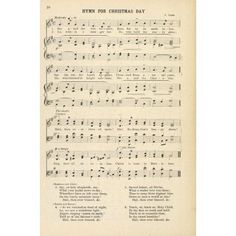 Hymn for Christmas Day J Goss Christmas Carols & Hymns 1910 Canvas Art - (18 x 24)