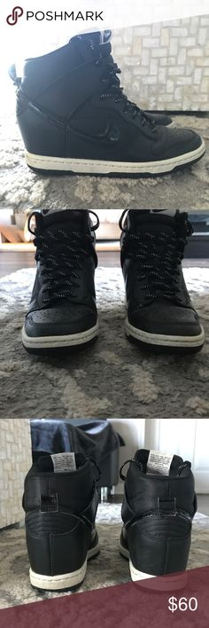 Nike (Platform) Sneakers Worn/used but overall in great condition! Super cute / comfy. Run a little small. Nike Shoes Sneakers