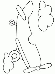 Transportation Page 4 Airplane4 Coloring Pages