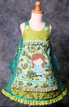 Festliches Kleid für Mädchen nach dem Schnittmuster VIDA von farbenmix selber nähen