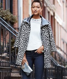 Ann Taylor Cheetah Coat $248 -60% off code today
