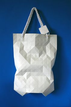 white faceted bag