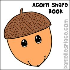 Acorn Shape Book from www.daniellesplace.com