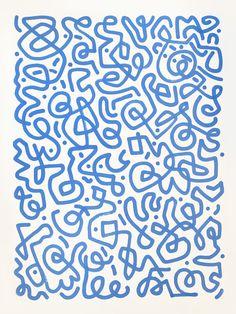 """Paint marker on paper, 22"""" x 30"""", June 2014.Skip Dolphin Hurshwww.skiphursh.com"""