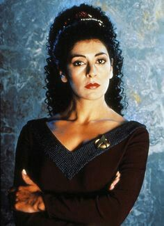 Deanna Troi, Most-fuckable Bridge Officer, 7 years running!  LOL.  No, seriously, I whacked off more to her than anyone else back in the day.