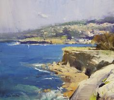 Colley Whisson   Cliffs at Coogee, Sydney 13x11