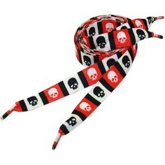 Outer Rebel Fashion Shoelaces- Red Black and White Alternating Skulls Outer Rebel. $2.50. Fun, funky shoelaces. For kids or the Big Kid in you!