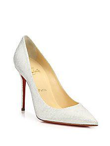 Christian Louboutin - Decollete Lamé Pumps