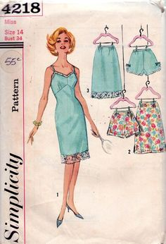 $22 Vintage sewing pattern  undergarments to match your outfits
