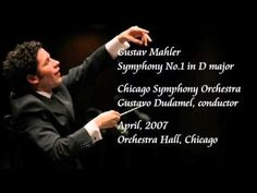 Gustavo Dudamel conducts the Chicago Symphony Orchestra in Gustav Mahler's Symphony No. 1, at Orchestra Hall in Chicago in 2007. If there are any naysayers about this conductor left it is well past time for them to pack it up. This guy is the real deal; the most exciting conductor on the scene in decades. Here he leads an interpretation of blazing vitality; one of the most phenomenal musical performances of our time, and this lucky audience knows it. (KevinR@Ky)