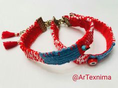 Unique handmade March bracelet by ArTexnima Baba Marta, Diy Jewelry, Jewlery, Macrame Bracelets, Boho Chic, Diy And Crafts, Crafty, Thoughts, My Style