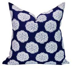 John Robshaw Textiles Ananda pillow cover in Indigo by sparkmodern