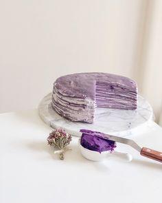 Lady M Crepe Cake, Peach Jelly, Crepe Batter, Purple Yam, M&m Recipe, Crepe Recipes, Mille Crepe, Fancy Cakes, Yams