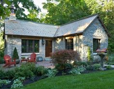 A Small Stone Lake House in Minnesota