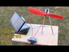 Free Solar Energy Fan With Mirror Glass - YouTube