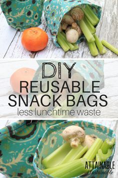 These reusable snack bags are perfect for packing dry snacks for lunch or traveling. If you're looking for a more eco-friendly food wrap, these might fit the bill.