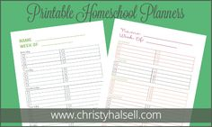 Christy Halsell has created FREE Homeschool Student Planners for you. They are editable and you can choose one that is gender specific.