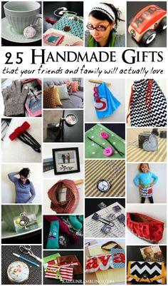 Great list of handmade gift tutorials all easy and inexpensive - Rae Gun Ramblings