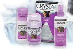 Crystal deodorant - Great for the pits; great for foot odor.  No more harmful ingredients.