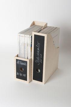Stehsammler aus Birkenholz // Holder for Magazins by Holz-Meier-Alltagsgegenstaende via DaWanda.com