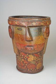 Peru, Quechua - Kero (17th Century) Peru Culture, Maker Culture, Ceramic Pottery, Ceramic Art, Art Thou, Inca, Gourd Art, Global Art, Art Object