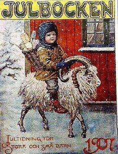 Jenny Nystrom   julbocken jenny nystrom Wholesale Oil Painting China Picture Frame ...