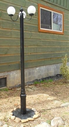 Make your own DIY Solar Light post Lights for your outdoor party event wedding in the garden park country chic reception with these Instructions. Great repurpose upcycle #StreetLamp