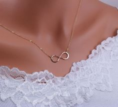 gold infinity necklace