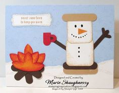 Stamping Inspiration: S'MORES BY THE FIRE PUNCH ART CARD...