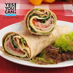 Turkey Onion Pesto Wraps a Yes You Can Diet Plan Lunch Recipe