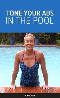 Love these ab moves you can do in the pool - so no sweating!