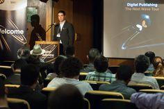 Plateia acompanha demonstração dos sistemas WoodWing e Adobe DPS, por Luiz Silveira, Gerente de Marketing da EPYX Soluções Editoriais. Foto: Guido Peters.