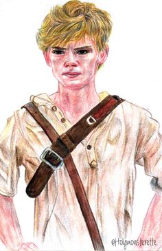 Thomas Brodie Sangster as Newt from The Maze Runner.   #Newt #TheMazeRunner #TheScorchTrials #maze #runner #thomasbrodiesangster #thomassangster #jamesdashner #art #coloured #pencil #sketch #portrait #fabercastell #illustration #movie #tmr #tst