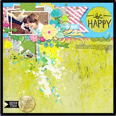 'Be Happy' by Zeneva Kovic Page Drafts Template #33.1 by The Nifty Pixel
