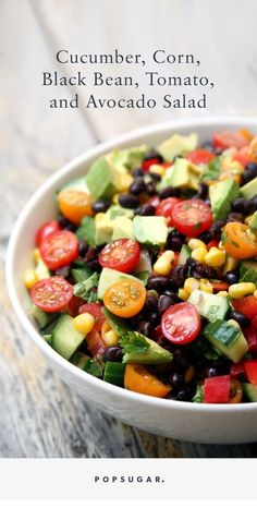 This salad is all about the veggies more like a salsa-meets-salad without a traditional dressing. But if you prefer your salad dressed whip up this lime vinaigrette. The post Hydrating Salad appeared first on Recipes. Lunch Recipes, Vegetarian Recipes, Cooking Recipes, Healthy Recipes, Vegan Black Bean Recipes, Soup Recipes, Cheap Recipes, Fast Recipes, Delicious Recipes