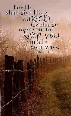 #Bibleverses (InJapanese:詩篇91:11 まことに主は、あなたのために、御使いたちに命じて、すべての道で、あなたを守るようにされる。)
