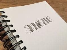 Amelie - Typografie / Hand Lettering