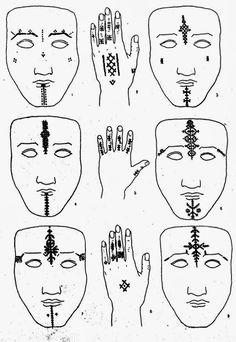 Eshkol HaKofer: More Moroccanalia: Moroccan Body Art in the Century, Berber type Native Tattoos, Tribal Tattoos, Tribal Henna Designs, Berber Tattoo, Moroccan Henna, Piercing, Facial Tattoos, Belly Dancing Classes, Henna Body Art