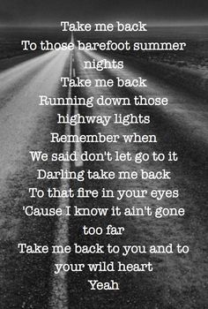 Take me back to you and to your wild heart -Daughtry