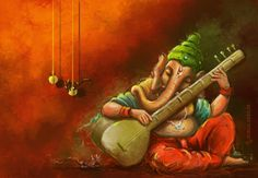 Ganesh Wallpapers: Ganesh Chathurthi is also known as Vinayagar Chathurthi celebrated by Hindus all over the world. Art Painting, Mural Painting, Painting, Ganesha Art, Ganesh Art Paintings, Art, Creative Painting, Canvas Art, Krishna Art