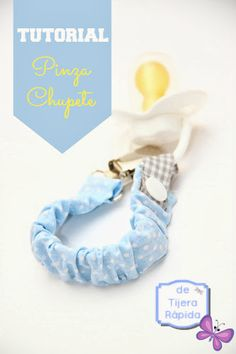 Customize the pacifier clamp - Tutéate Sewing Baby Clothes, Baby Sewing, Free Sewing, Diy Clothes, Baby Net, Baby Shawer, Baby Bibs, Sewing Tutorials, Sewing Projects